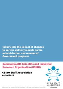 CSIRO Staff submission service delivery inquiry